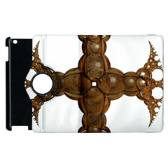 Cross Golden Cross Design 3d Apple iPad 3/4 Flip 360 Case