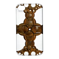 Cross Golden Cross Design 3d Apple Iphone 4/4s Hardshell Case With Stand