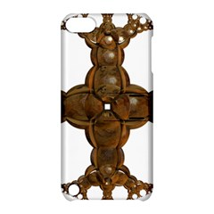 Cross Golden Cross Design 3d Apple Ipod Touch 5 Hardshell Case With Stand