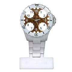 Cross Golden Cross Design 3d Plastic Nurses Watch