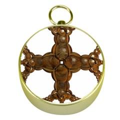 Cross Golden Cross Design 3d Gold Compasses