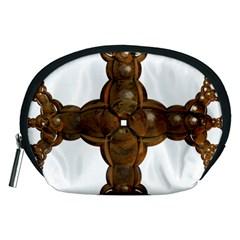 Cross Golden Cross Design 3d Accessory Pouches (medium)