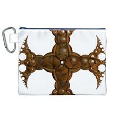 Cross Golden Cross Design 3d Canvas Cosmetic Bag (xl)