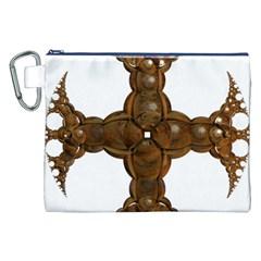 Cross Golden Cross Design 3d Canvas Cosmetic Bag (xxl)