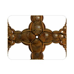 Cross Golden Cross Design 3d Double Sided Flano Blanket (Mini)