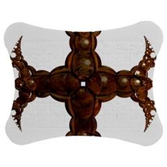 Cross Golden Cross Design 3d Jigsaw Puzzle Photo Stand (Bow)