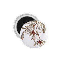 Floral Spray Gold And Red Pretty 1 75  Magnets