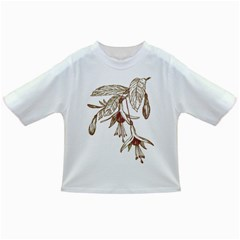 Floral Spray Gold And Red Pretty Infant/toddler T Shirts