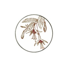 Floral Spray Gold And Red Pretty Hat Clip Ball Marker (10 pack)