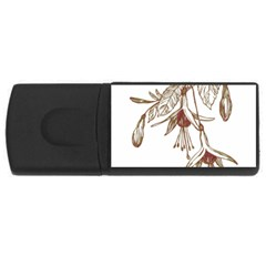 Floral Spray Gold And Red Pretty USB Flash Drive Rectangular (4 GB)