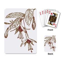 Floral Spray Gold And Red Pretty Playing Card