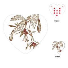 Floral Spray Gold And Red Pretty Playing Cards (heart)