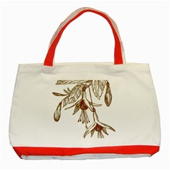 Floral Spray Gold And Red Pretty Classic Tote Bag (red)