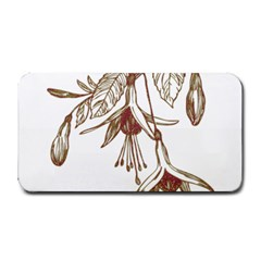 Floral Spray Gold And Red Pretty Medium Bar Mats