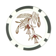 Floral Spray Gold And Red Pretty Poker Chip Card Guard