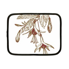 Floral Spray Gold And Red Pretty Netbook Case (small)