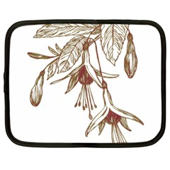 Floral Spray Gold And Red Pretty Netbook Case (XL)
