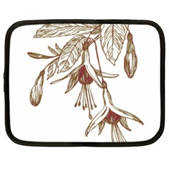 Floral Spray Gold And Red Pretty Netbook Case (XXL)