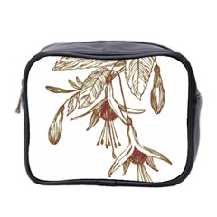 Floral Spray Gold And Red Pretty Mini Toiletries Bag 2-Side