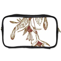 Floral Spray Gold And Red Pretty Toiletries Bags 2-Side