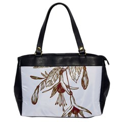 Floral Spray Gold And Red Pretty Office Handbags