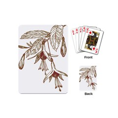 Floral Spray Gold And Red Pretty Playing Cards (Mini)