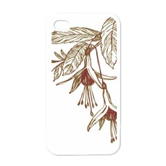 Floral Spray Gold And Red Pretty Apple Iphone 4 Case (white)