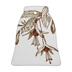Floral Spray Gold And Red Pretty Bell Ornament (Two Sides)