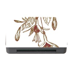 Floral Spray Gold And Red Pretty Memory Card Reader With Cf
