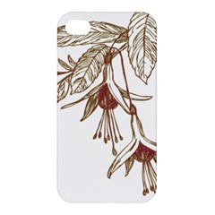Floral Spray Gold And Red Pretty Apple iPhone 4/4S Hardshell Case