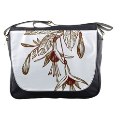 Floral Spray Gold And Red Pretty Messenger Bags
