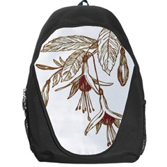 Floral Spray Gold And Red Pretty Backpack Bag