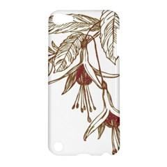 Floral Spray Gold And Red Pretty Apple Ipod Touch 5 Hardshell Case