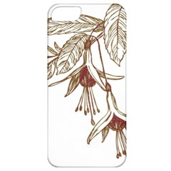 Floral Spray Gold And Red Pretty Apple Iphone 5 Classic Hardshell Case