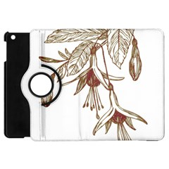 Floral Spray Gold And Red Pretty Apple iPad Mini Flip 360 Case