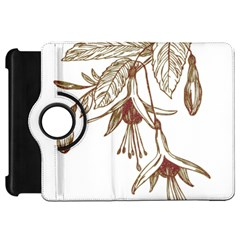 Floral Spray Gold And Red Pretty Kindle Fire HD 7