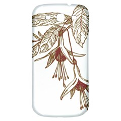 Floral Spray Gold And Red Pretty Samsung Galaxy S3 S III Classic Hardshell Back Case
