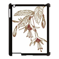 Floral Spray Gold And Red Pretty Apple Ipad 3/4 Case (black)