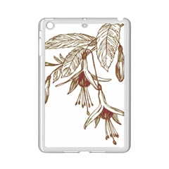 Floral Spray Gold And Red Pretty Ipad Mini 2 Enamel Coated Cases