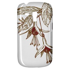 Floral Spray Gold And Red Pretty Galaxy S3 Mini