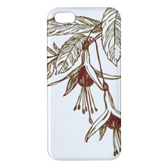 Floral Spray Gold And Red Pretty Apple Iphone 5 Premium Hardshell Case