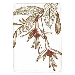 Floral Spray Gold And Red Pretty Flap Covers (s)