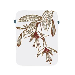 Floral Spray Gold And Red Pretty Apple Ipad 2/3/4 Protective Soft Cases