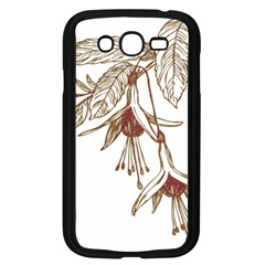 Floral Spray Gold And Red Pretty Samsung Galaxy Grand Duos I9082 Case (black)