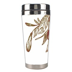 Floral Spray Gold And Red Pretty Stainless Steel Travel Tumblers