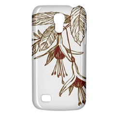 Floral Spray Gold And Red Pretty Galaxy S4 Mini