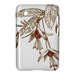 Floral Spray Gold And Red Pretty Samsung Galaxy Tab 2 (7 ) P3100 Hardshell Case