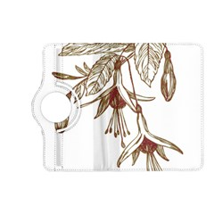 Floral Spray Gold And Red Pretty Kindle Fire Hd (2013) Flip 360 Case