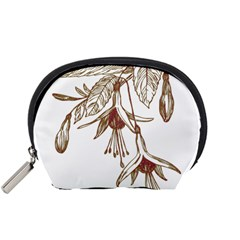 Floral Spray Gold And Red Pretty Accessory Pouches (small)