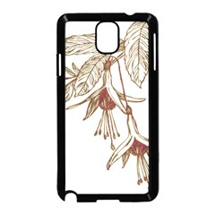 Floral Spray Gold And Red Pretty Samsung Galaxy Note 3 Neo Hardshell Case (black)